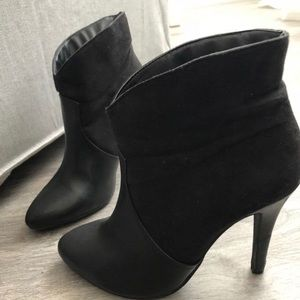 Forever 21 Black Faux Suede Boots Size 7